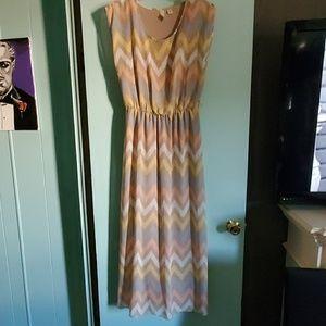 Tacera pretty light weight chiffon dress